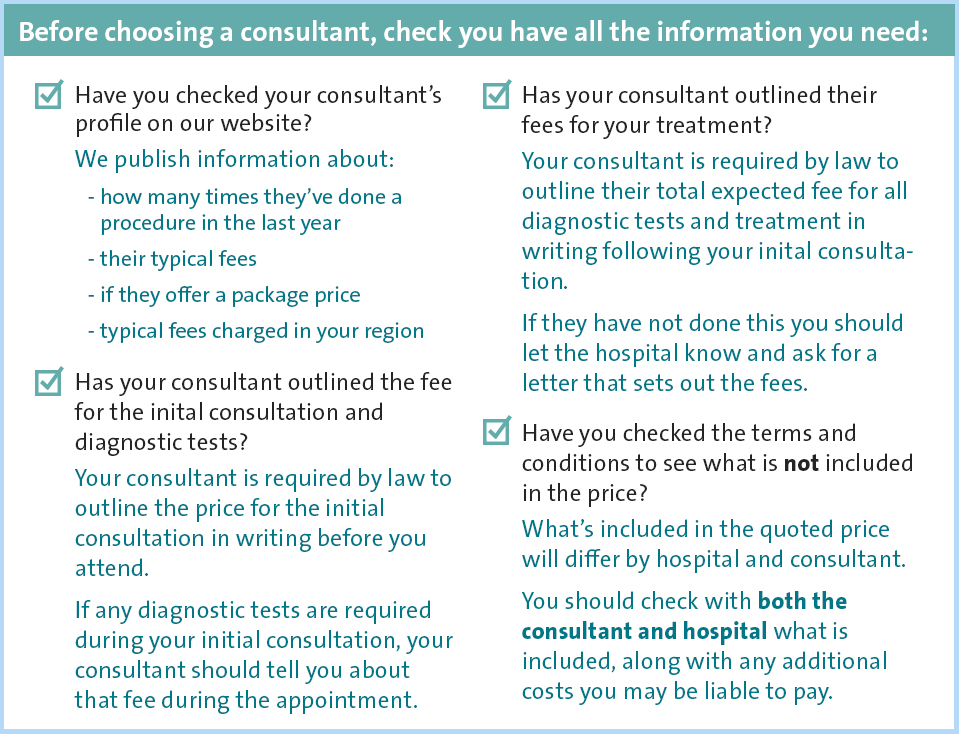 Consultant checklist