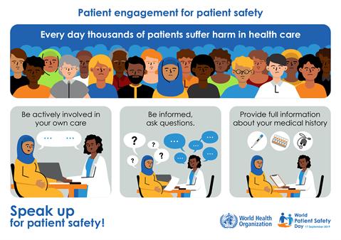 Patient engagement for patient safety